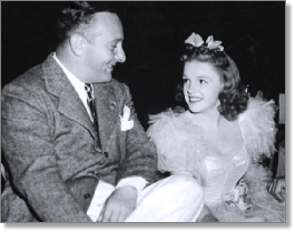 "Judy Garland in ""Little Nellie Kelly"" with Arthur Freed"