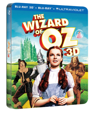 Best Buy exclusive tin packaging version of The Wizard of Oz Blu-ray and Blu-ray 3D 75th Anniversary Edition