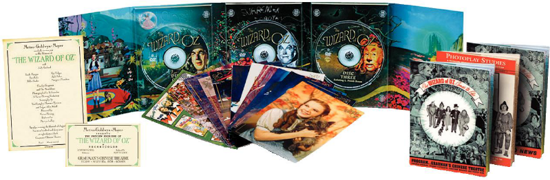 """Beauty Shot"" of The Wizard of Oz 3 disc DVD"