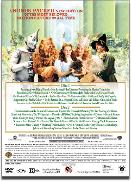 The Wizard of Oz 2 disc DVD
