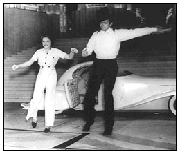 Judy Garland and Buddy Ebsen rehearse for The Broadway Melody of 1938