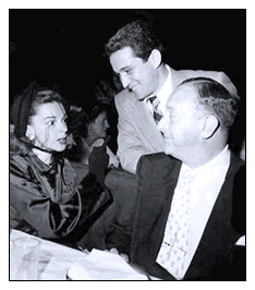 Judy Garland with Arthur Freed and Perry Como