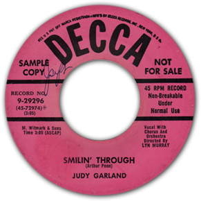 Smilin' Through - Judy Garland on Decca Records