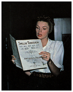 "Judy Garland records ""Smilin' Through"" for Decca Records in July 1945"