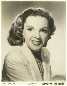 1947 Judy Garland on MGM Records Promo Pic