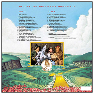 """The Wizard of Oz"" 80th Anniversary Soundtrack Vinyl"