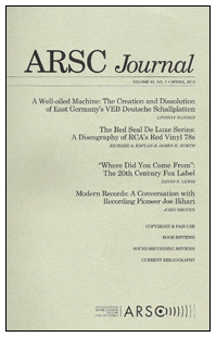 ARSC Journal Cover